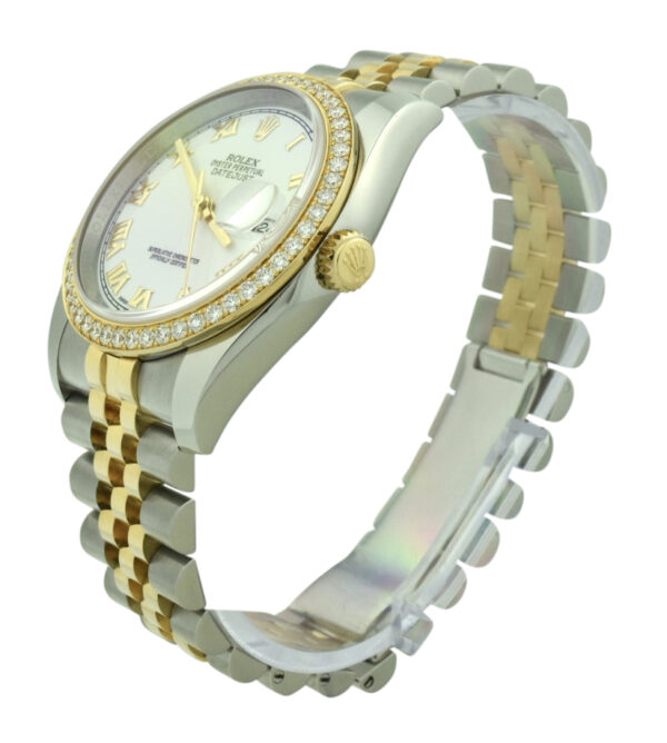 Rolex datejust 36mm 116243 factory diamond bezel