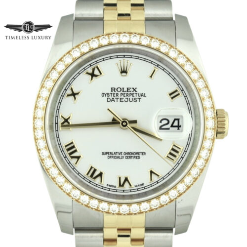 Rolex datejust 36mm 116243 diamond bezel