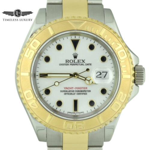 2005 Rolex Yacht-master 16623 white dial watch