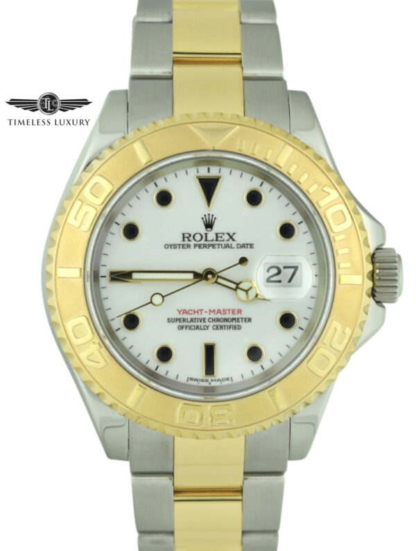 2005 Rolex Yacht-master 16623 white dial watch
