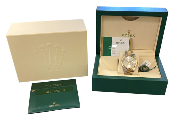 Men's Rolex Datejust 41mm 126333 silver dial for sale