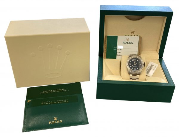 Rolex Oyster Perpetual 114200 blue dial for sale