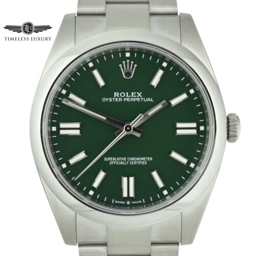 Rolex Oyster Perpetual 41mm 124300 green dial
