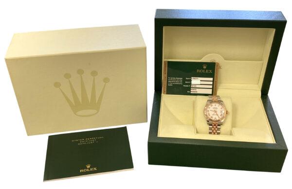 Ladies Rolex datejust 31mm steel & rose gold 178271 for sale
