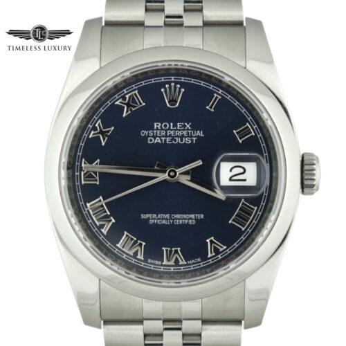 Rolex Datejust 36mm 116200 blue roman dial