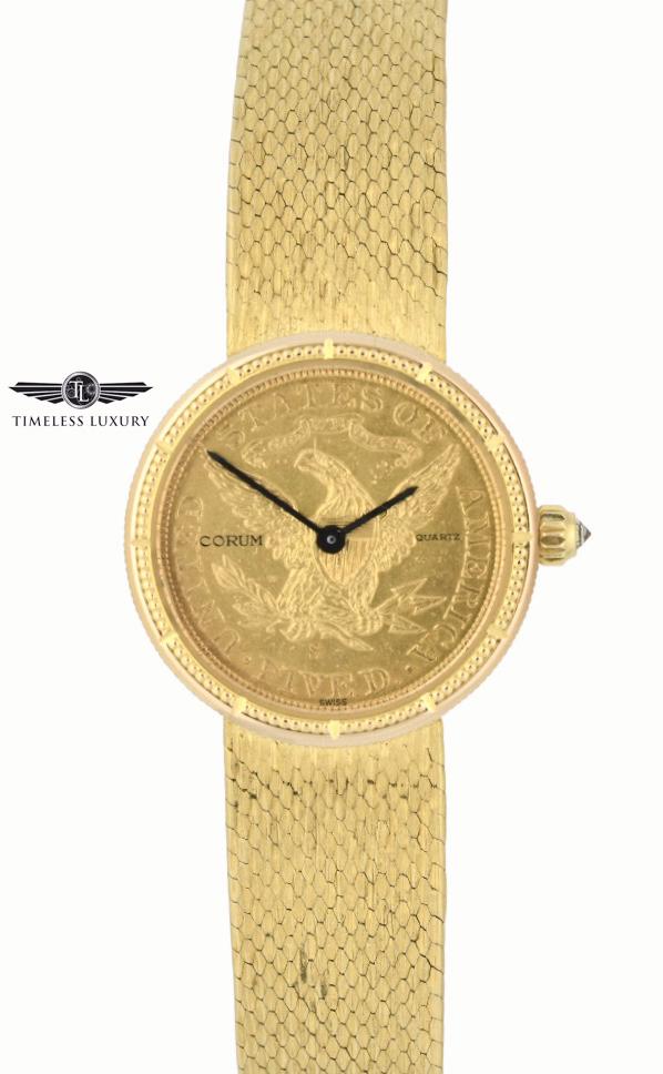 Ladies Corum $5 Gold Coin Watch