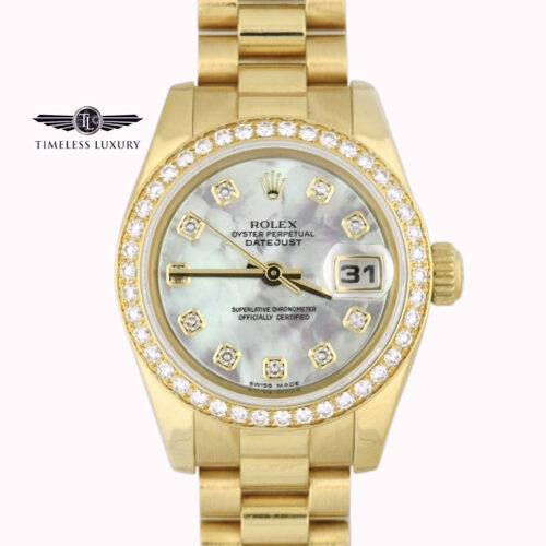 Ladies Rolex president 179138 diamond bezel