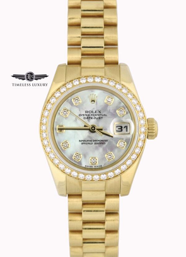 Ladies Rolex president 179138 diamond bezel