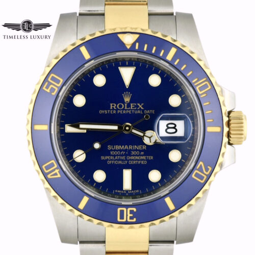 2016 Rolex Submariner 116613LB Blue Dial