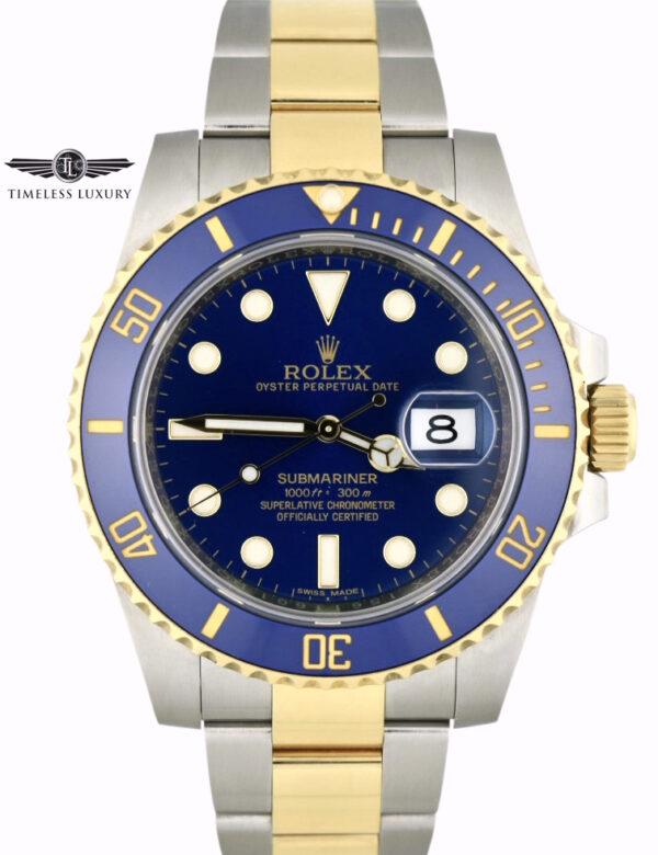 2016 Rolex Submariner 116613LB Blue Dial