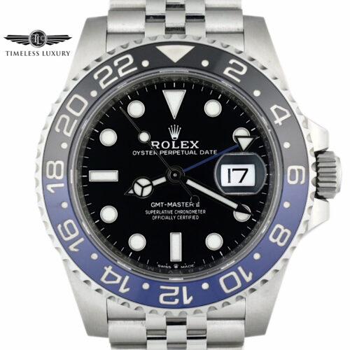 2019 Rolex GMT-MASTER 126710BLNR BATMAN