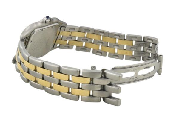 cartier panthere double gold row bracelet