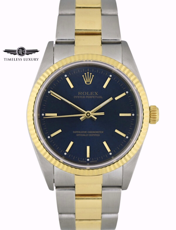 2000 Rolex Oyster Perpetual 14233 blue dial for sale