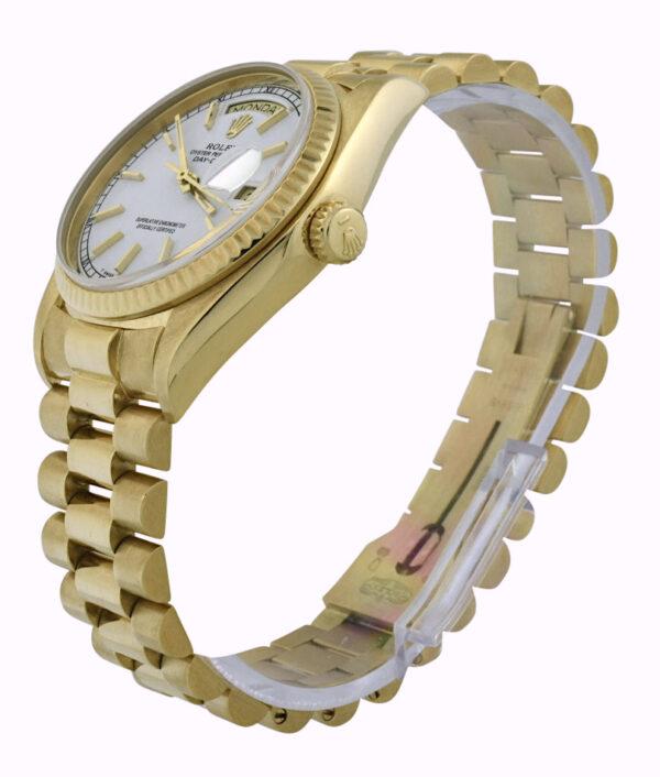 1980 rolex president 18038 white dial