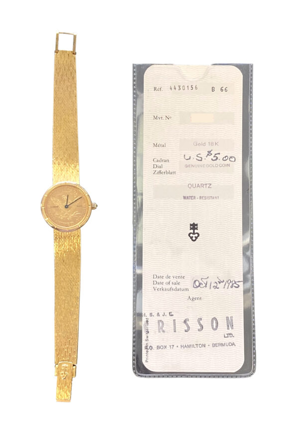 Ladies Corum $5 gold coin watch for sale