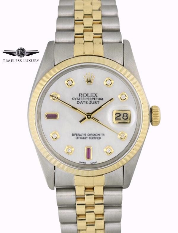 1982 Rolex Datejust 16013 MOP dial