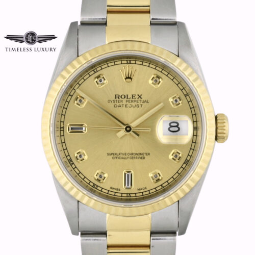 1996 Rolex Datejust 16233 Oyster Band diamond dial