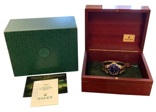 2000 Rolex Submariner 16618 yellow gold