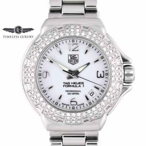 Ladies TAG Heuer Formula 1 WAC1215 Diamond bezel watch