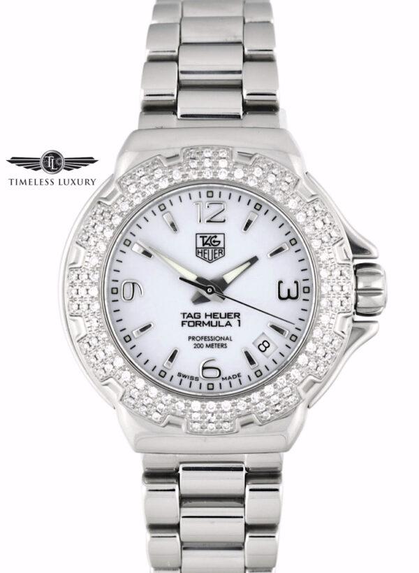 Ladies TAG Heuer Formula 1 WAC1215 Diamond bezel watch