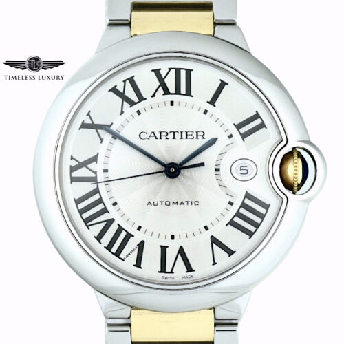 Men's Cartier ballon bleu 42mm steel & gold w69009z3