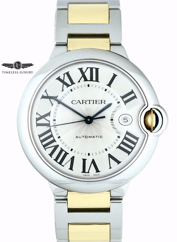 Men's Cartier ballon bleu 42mm steel & gold w69009z3
