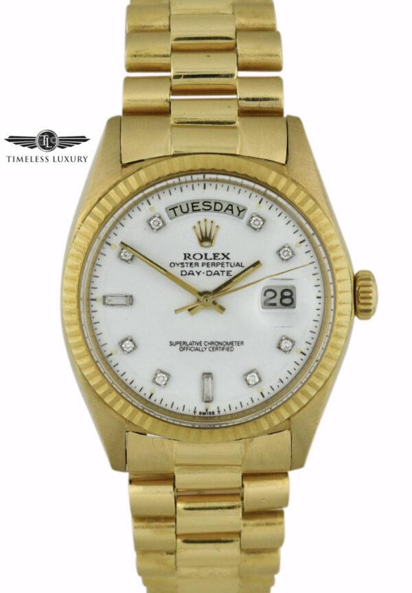 1964 Rolex President 1803 White Dial
