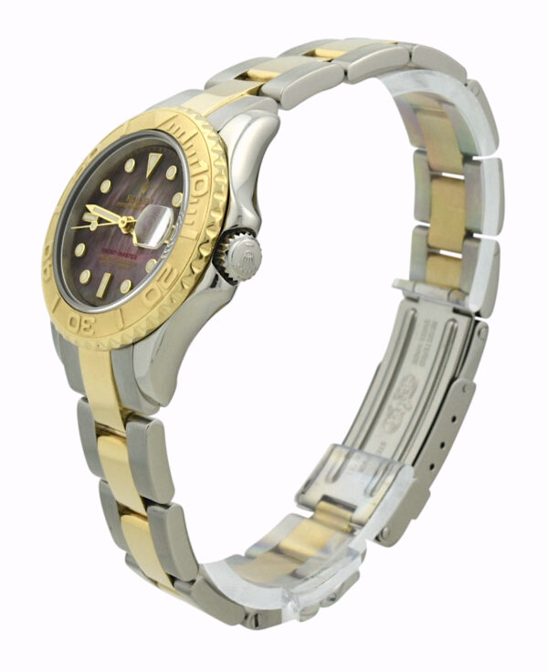 Ladies Rolex yachtmaster mother of pearl dial