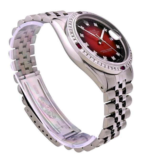 Rolex datejust 16014 red diamond dial