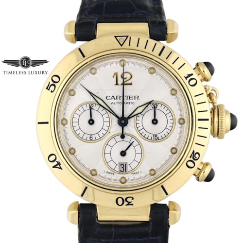 Cartier Pasha 2111 chronograph 18k yellow gold 38mm