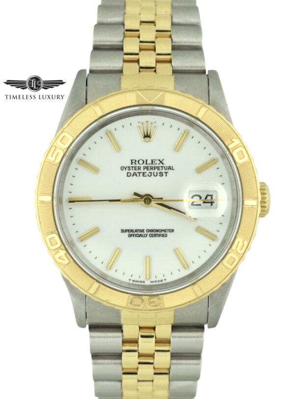 1990 Rolex Turn-O-Graph 16263 white dial