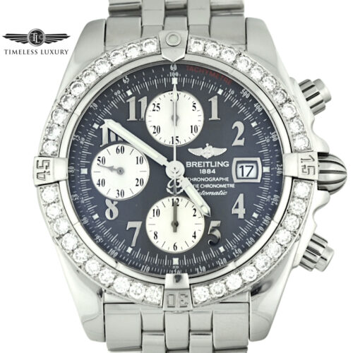 Breitling A13356 diamond bezel watch