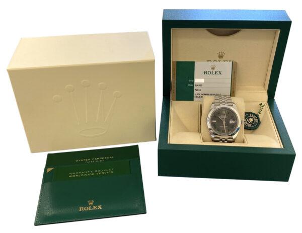 Men's Rolex Datejust 41mm 126300 Wimbledon dial for sale