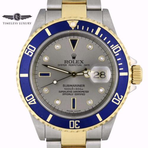 2006 Rolex Submariner 16613T Serti Dial