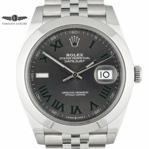 Rolex Datejust 41 126300 Wimbledon dial jubilee band