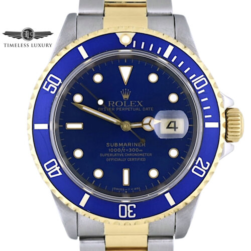 1995 Rolex submariner 16613 blue dial