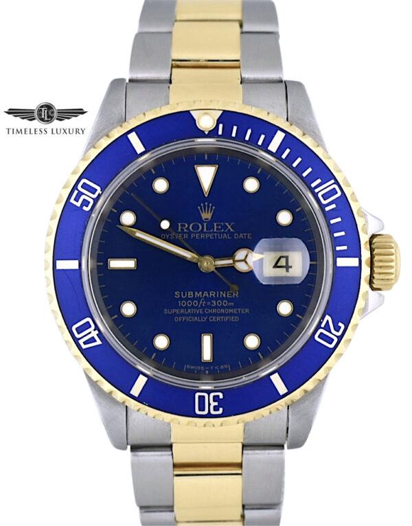 1995 Rolex submariner 16613 blue dial