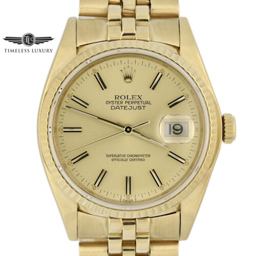 1979 Rolex Datejust 16018 Yellow gold
