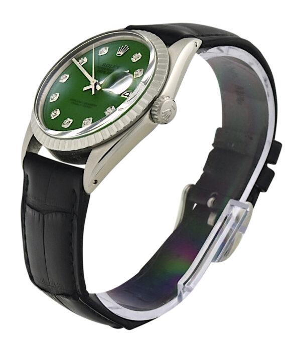 Rolex datejust 1603 green diamond dial