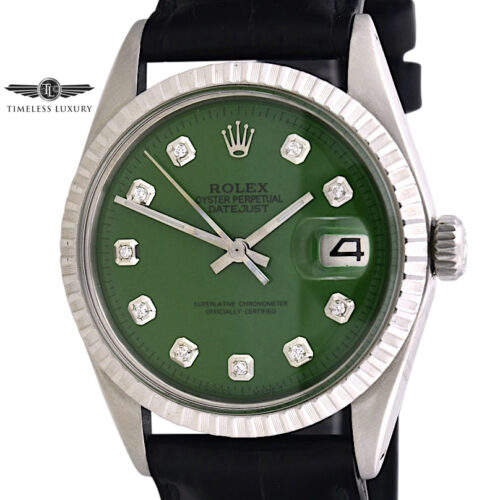 1972 rolex datejust 1603 green dial for sale