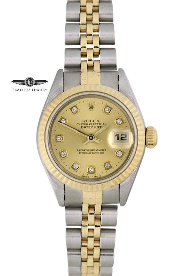 Ladies Rolex Datejust 79173 diamond dial