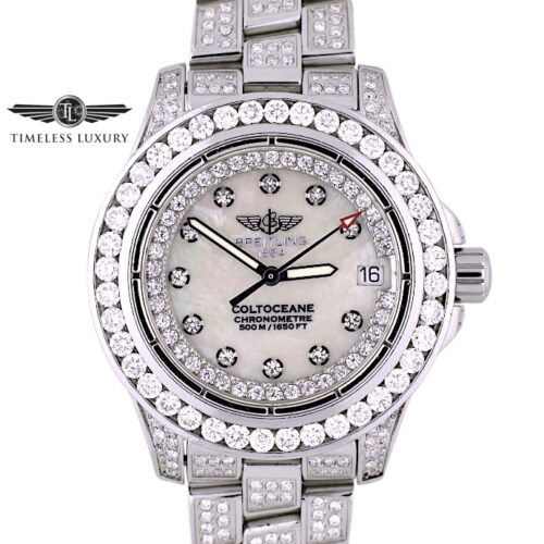 Ladies Breitling Colt Oceane A77380 diamond watch