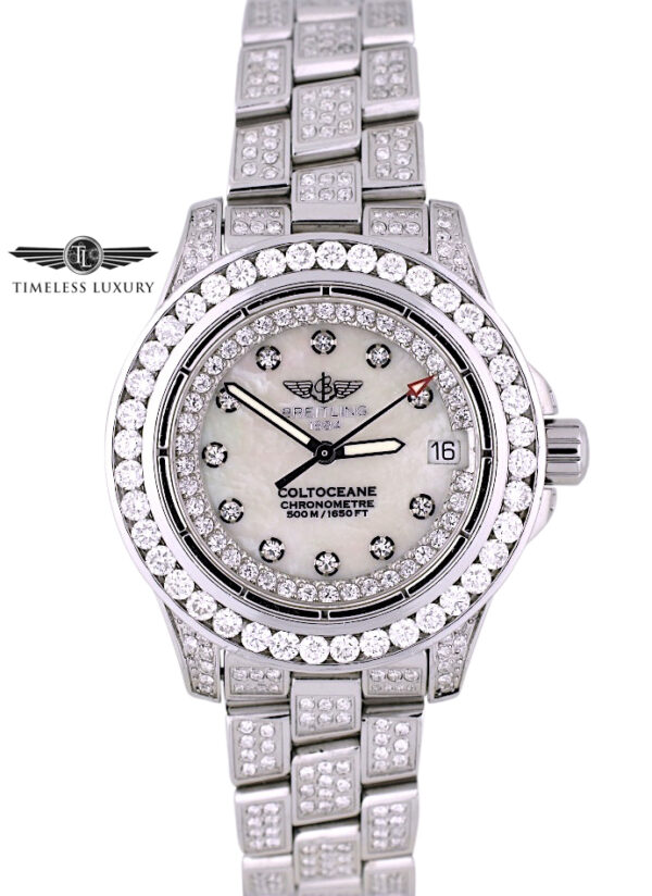 Ladies Breitling Colt Oceane A77380 diamond watch