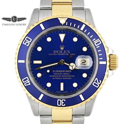 2000 Rolex submariner 16613 blue dial for sale