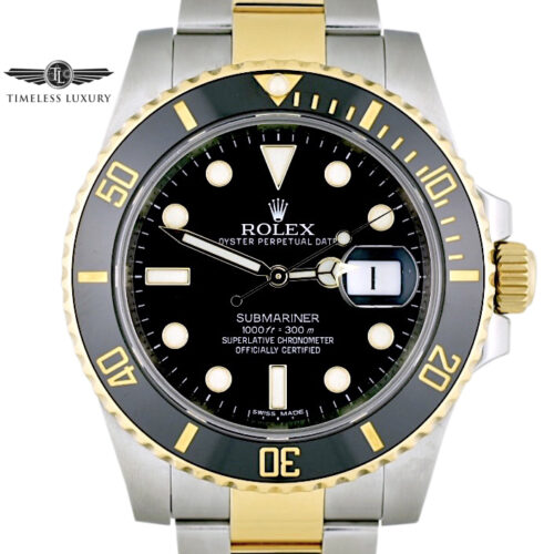 2014 Rolex Submariner 116613LN Black dial