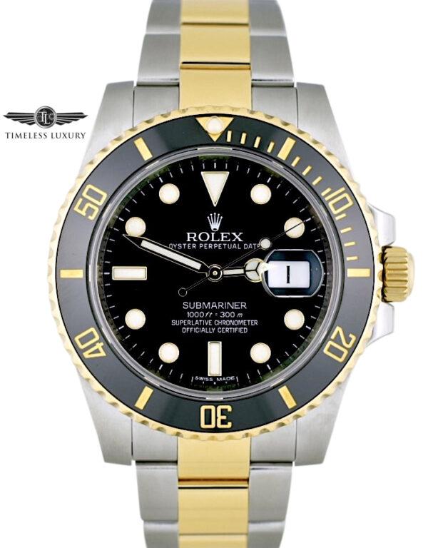 2014 Rolex Submariner 116613LN Black dial