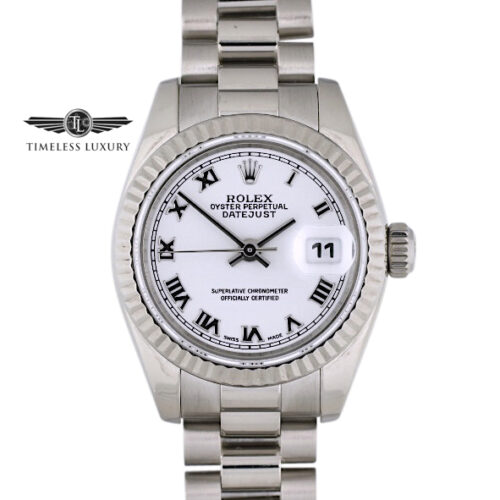 Ladies Rolex President 179179 White Gold 26mm