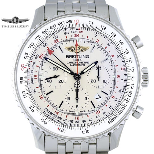 Breitling Navitimer GMT AB04412 Silver dial for sale