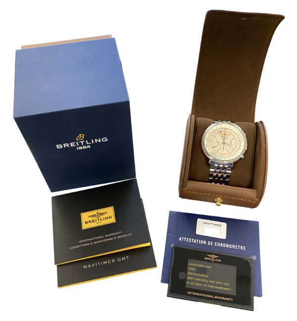NEW Breitling Navitimer GMT B04 AB04412