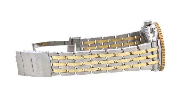 Breitling Navitimer steel gold band
